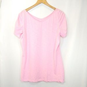 Lilly Pulitzer pima cotton tee w/ ruched sleeves